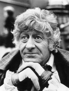 Jon Pertwee on the set of Doctor Who at the later end of his career as the Third Doctor.