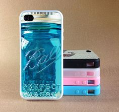 Ball Mason Jar iphone 5 case iphone 5c case by Xiaoyancasejewelry