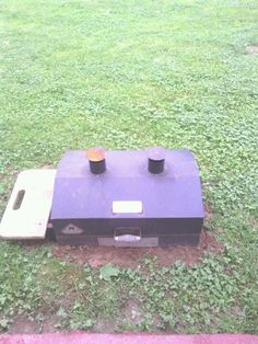 Our old grill rusted out where it attached to the stand. Dug a hole to use as a fire pit. When we go in shut the lid and don't have to worry about catching anything on fire. Could still use as grill/smoker if we want.
