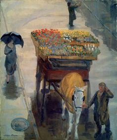 John Sloan (American, 1871-1951) / Flowers of Spring, 1924. Oil on canvas. Museum of Fine Arts, Boston