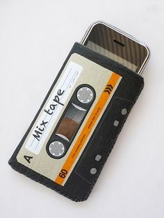 Orange Cassette Tape iPhone Case by CrankCases