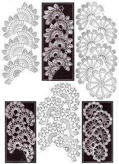 crochet lace panel