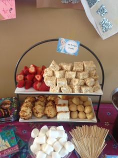 """""""The chocolate fondue!"""" Frozen Birthday Party sweets for fondue! See more party ideas at CatchMyParty.com!"""
