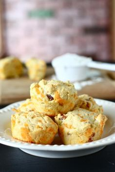 Bacon and cheese muffins for breakfast on the go!