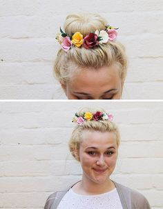 Make This: Paper Flower Hair Accessory DIY