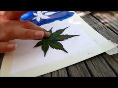 HOW TO MAKE LEAF STAMP ART - by Mr. Otter Studio stamp art, leaf stamp, otter studio