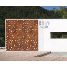 Ruby Wall Panel/Screen - Outdoor & Garden | Interiors Online - Furniture Online & Decorating Accessories featur wall, outdoor art, screen idea, wall screen, outdoor gardens, accessories, feature walls, courtyard, backyard wall