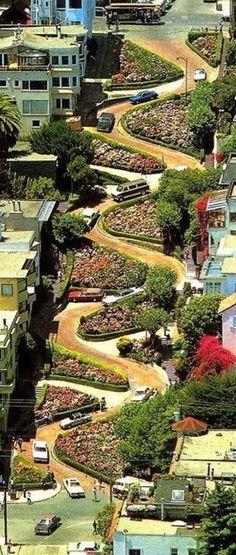 Lombard Street in San Francisco, California
