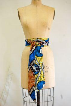 African Print belt
