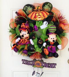Mickey Minnie Mouse Halloween Wreath