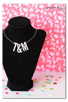 make your own DIY Initial Charm Necklace for Cheap ~ Sugar Bee Crafts