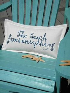 The beach fixes everything..