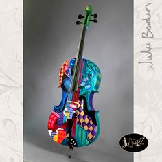 Juleez Hand Painted 4/4 Cello by Julie Borden Harlequin Music City
