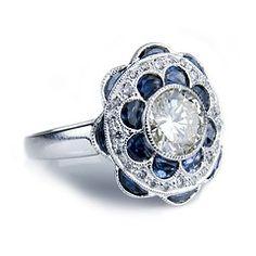 Edwardian style engagment ring. Beautiful piece!