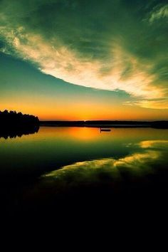 The silence of sunset. ...