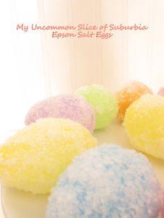 Epson Salt Easter Eggs super easy way to create sparkly fun eggs