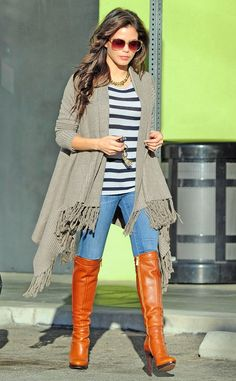 fringed cardigan fall outfit