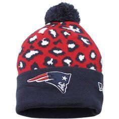 New England Patriots Ladies Cuffed Beanie with Pom