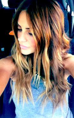 girl hair, michell money, hair colors, ombre hair, michelle money hair, wave, highlight, beach hair color, dream hair