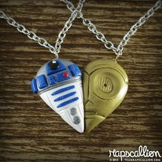 R2D2 and C3PO-Inspired BFF Necklace Set | Geeks are Sexy Technology News