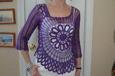 Sweet Purple Star  Hand Made Crochet Shirt / Custom by acharettka, $119.00