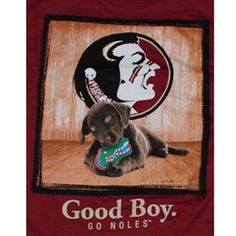 Florida State Seminoles Football T-Shirts - Man's Best Friend - Good Boy