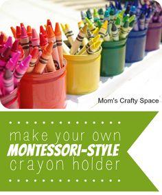 make your own Montessori-style crayon holder!
