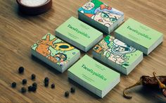 Business card with illustrative detail for Taco Republica designed by Bielke+Yang
