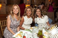 """57th Spirit of Achievement Annual Luncheon honoree Natalie Morales with fellow NBC-TV's """"Today Show"""" hosts Kathie Lee Gifford and Hoda Kotb."""