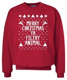 Merry Christmas Ya Filthy Animal Crewneck Sweatshirt