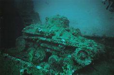 Truk Lagoon: Sunken Tank #Micronesia