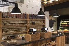 Old Amsterdam Cheese store by studiomfd Amsterdam kassameubel
