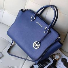 A Great Deal Of Michael Kors Selma Top-Zip Large Navy Satchels Are Best Here For You! #Find #Michaelkors
