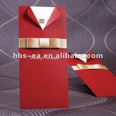 Tarjetas de la invitación de la boda de papel con buena suerte - spanish.alibaba.com
