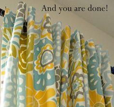 Simple Simon & Company: Tab-Top Curtain Tutorial