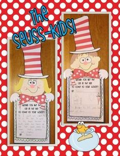 Dr. Seuss bulletin board classroom projects