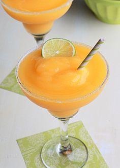 Frozen Mango-Lime Margaritas | Kitchen Treaty