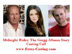 Casting call for extras and crew members for feature film 'Midnight Rider: The Gregg Allman Story'