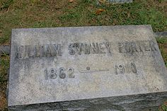 William Sydney Porter the famous author known as O Henry is buried in Riverside Cemetery in Asheville, N.C.