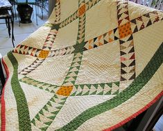 vintage flying geese quilt