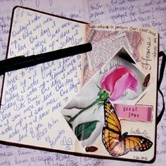 A Smash journal is about collecting doodles on paper, magazine pictures that make you smile, special cards, maybe a feather you found...something you find beautiful, and sticking it into a journal thus creating your very own Smash book! It's a collage collection of tidbits, ideas, thoughts all in one book.