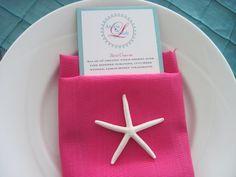 Pink Beach Wedding Napkins