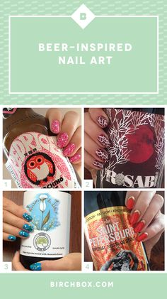 Pinkies up! These 4 nail art designs inspired by niche beer labels are seriously the cutest thing ever.