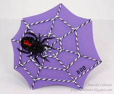 Popper & Mimi Paper Crafts: Baker's Twine Spiderweb Card