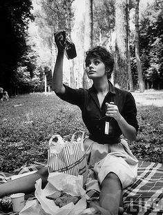 Sophia Loren, she's just uniquely beautiful and captivating.