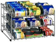 Can rack for pantry {featured on Home Storage Solutions 101}