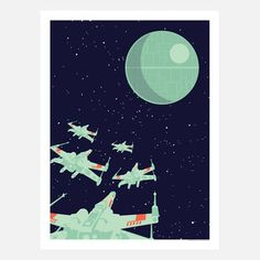Space Fleet 18x24 now featured on Fab.