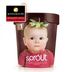 food packaging, baby foods, springett sprout, packag design, pentaward 2013