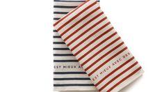 Parisian Striped Linen Tea Towels (set of 2)