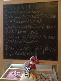 Hilarious! I love these ideas that I see on pinterest that people dream up for the elf! Imagine how this would make little ones laugh when they woke up to the sight of this elf!
